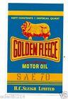 GOLDEN FLEECE OIL CAN Vinyl Sticker Decal Garage Service Station Retro Petrol