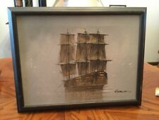 Misty ship oil painting By Garcia