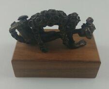 Vintage Alva Museum Replicas Inc, Leopard Eating Man Goldweight