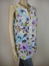 TOMMY BAHAMA Cotton Silk Sleeveless Top sz 12 14 - BUY Any 5 Items = Free Post