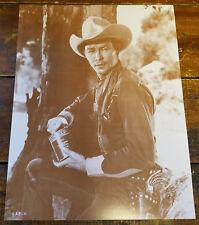 ROY ROGERS FAMOUS TV WESTERN COWBOY PISTOL ON HIP PORK & BEANS PAPER PHOTO PRINT