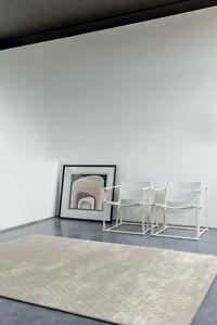 Pure New Wool Blend Elegant Modern Design Cream Grey Superior Quality Area Rugs