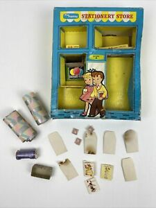 Vintage 1959 My Merry Play Set Stationary Store Hallmark Gifts Toy As Is