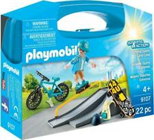 Playmobil Extreme Sports Carry Case 9107 - BMX, Roller blade, Skateboard toy