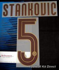 Inter Milan Stankovic 5 Centenary 2008/09 Football Shirt Name Set Away