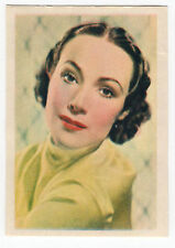 1936 Spanish Nestle Film Star Paper Thin Stamp Sticker #92 Dolores Del Rio