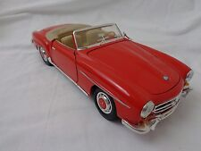 Vintage 1955 Mercedes Benz 190SL Convertible Red 1/18 Diecast Car Model