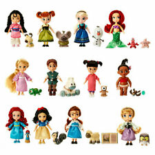 2017 Disney Store Animator's Collection Mini Doll Gift Set 12 Dolls with Pets Ne