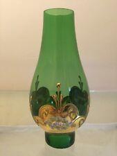 Beautiful Bohemian Czech Glass Lamp Shade Globe Oil  Kerosene Hurricane