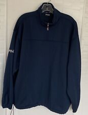 Ping Mens Medium Blue 1/4 Zip Pullover Sweater.