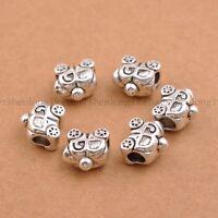 20/50Pcs Tibetan Silver Big Hole European Charm Spacer Beads for Bracelet