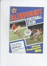Aldershot FA Cup Home Teams A-B Football Programmes