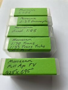 moviecam film camera ground glasses (lot of 5)