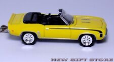 RARE KEY CHAIN YELLOW BLACK 69/1969 CAMARO RS/SS CONVERTIBLE NEW LIMITED EDITION