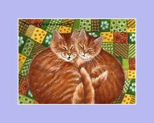 Ginger Cat ACEO Print Upset Kitty by I Garmashova