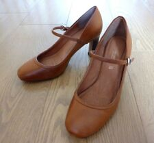 Next Forever Comfort Ladies Mary Jane Tan Brown Leather Shoes Size UK 4 EU 37