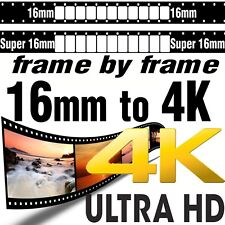 Super 16mm Movie Film to 4K UHD Ultra High Definition Scanning Transfer SERVICE