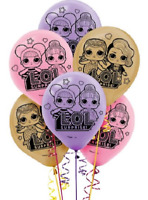 "Official LOL Surprise Latex Birthday Party Balloons 12"" (Pack of 6)"