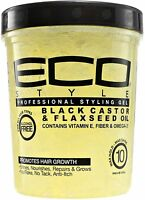 ECO Styler Black Castor - Flaxseed Oil Gel 32 oz (Pack of 2)