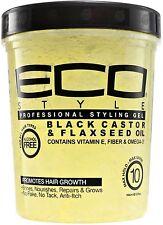 ECO Styler Black Castor - Flaxseed Oil Gel 32 oz (Pack of 2)