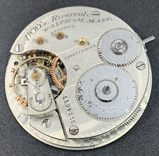 Waltham Riverside Pocket Watch Movement 1872 16s 15j Hunter Ticks Stops F4829