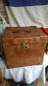 Antique Suitcase /  Case Vulcanized Fibre