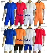 10 Sets Soccer Jersey & Shorts Red/Orange/Blue/White *FREE PRINT* S06101/S06103