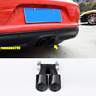 For Porsche 718 Boxster Cayman 2017-19 Stainless black Rear Exhaust Tip End Pipe