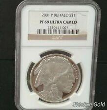 2001P Proof American Buffalo Silver Commemorative $1 NGC PF69 Ultra Cameo 200812