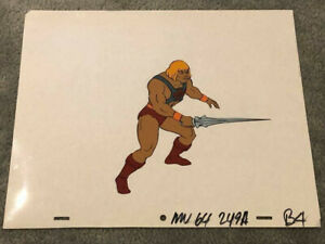 HE-MAN & MASTERS OF THE UNIVERSE MOTU - HE-MAN - PRODUCTION CEL & PENCIL