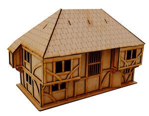 28 mm MDF laser cut Wealdon House for Medieval & Border Reivers