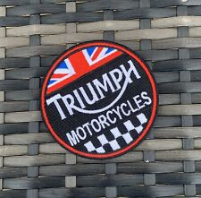 Triumph Motorcycles Embroidered Iron on Patch - New