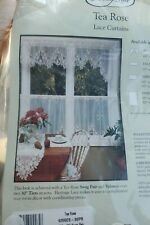 Heritage Lace TEA ROSE Swag Pair Curtain 60x30 ECRU Made in USA