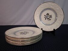 "Set of 6 Antique Wedgwood Patrician 9"" Salad Plates. Incised Date Code. 30's?"