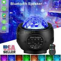LED Galaxy Starry Night Light Projector Lamp Ocean Star Sky Party Speaker Remote