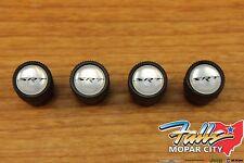 Chrysler Dodge Jeep SRT Black Valve Stem Caps Mopar OEM