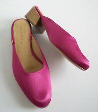 MARI GIUDICELLI *LEBLON* Fuchsia Pink Satin MULES Flats Shoes EUR-38 US-7