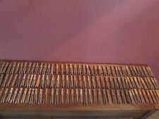 Lot 120 Vintage Wooden Wood Round Head & Flat Clothes Pins Clothespins Laundry