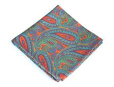 Lord R Colton Masterworks Pocket Square - Autumn Copper Green Silk - $75 New