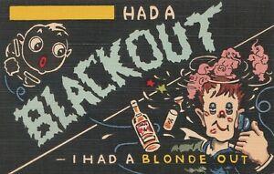 "Comic Black Americana ""Had a Blackout-I had a Blonde Out"""