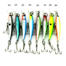 8pcs 5cm/2.2g 10 # hook Fishing lure saltwater bait Minnow Crankbaits baits