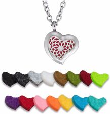 Aromatherapy Essential Oil Diffuser Necklace Stainless Steel Sunflower (Heart)