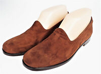 6.5B Cole Haan Brown Suede Leather Slip On Flats Loafer Shoes Italy