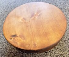 """Rustic Wood Wooden Round Wedding Cake Stand Cheese Serving Board 12"""" PLAIN"""
