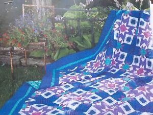 """Winter Sunset"" quilt magazine pattern Star blocks"