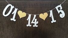 Custom Save The Date Wedding Banner- Photo Prop Garland, Shower