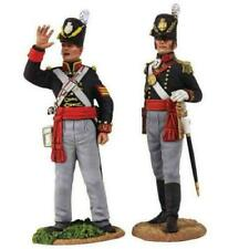 W Britains 54mm #36126 Napoleonic British Royal Artillery Officer & NCO set