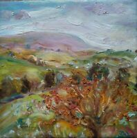 ORIGINAL SIGNED Impressionist Autumn Coverdale YORKS.DALES OIL PAINTING CANVAS