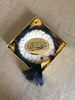 Muslim Scented Stone with Prayer 99 Beads SubhanAllah gift ornament with Stand