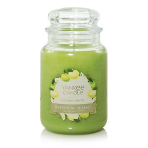 ☆☆GRANNY SMITH☆☆ LARGE YANKEE CANDLE JAR 22OZ. ☆☆ FREE SHIPPING☆☆GREAT SCENT